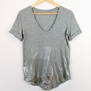 Lululemon Love Tee II Heathered Gray and Silver
